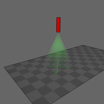 Perpendicular laser, no distortion