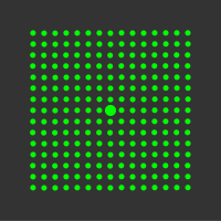 5 mW 520 nm Green Premium Structured Grid of Dots 51x51 Laser, 18° fan angle, adjustable focus, TTL+, Sealed IP67