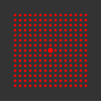40 mW 635 nm Red Premium Structured Grid of Dots 51x51 Laser, 22° fan angle, adjustable focus, TTL+, Sealed IP67