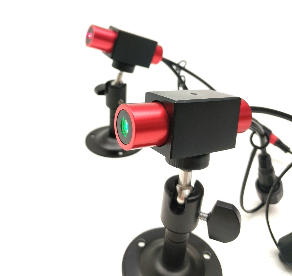 5 mW 520 nm Green Premium Structured Reticle of Dots Laser, 5° fan angle, adjustable focus, TTL+, Sealed IP67