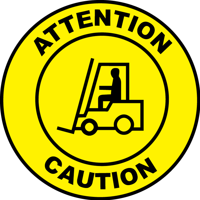 SafetyCast Virtual Sign Projector | 300 W, Extra Narrow | Forklift 3 Caution - English/French Bilingual